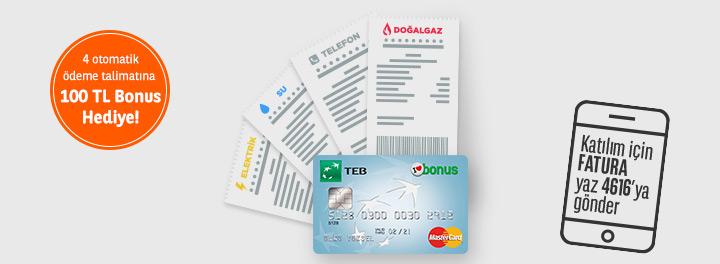 TEB Otomatik Fatura Ödeme Talimatı Verme