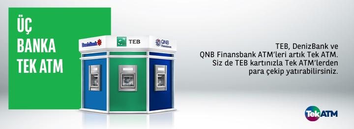 Tek ATM - Üç Banka Tek ATM | Türk Ekonomi Bankası
